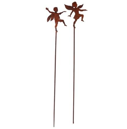 Trädgårdsdekoration 2-set Tingeling och Peter Pan mini stick ELDgarden