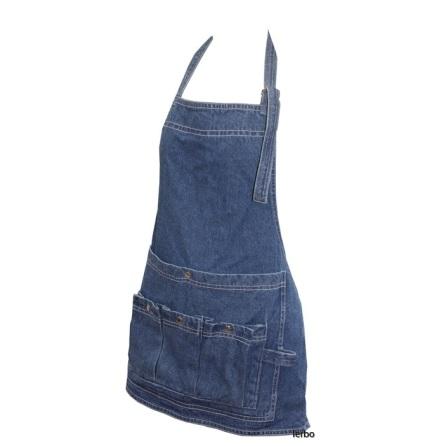 Trädgårdsförkläde av jeans bröstlapp ELDgarden