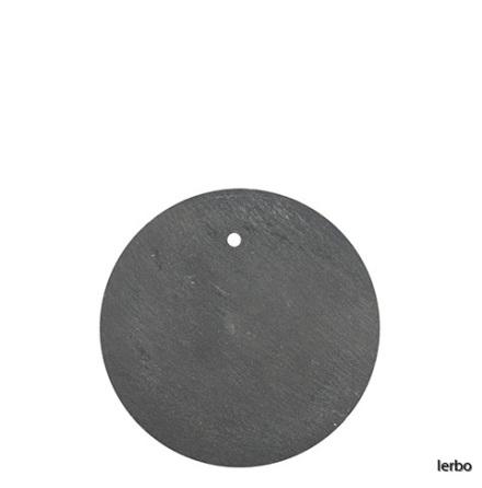 Skifferskylt rund med hål
