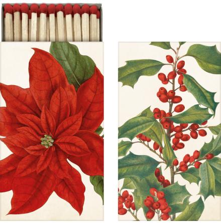 Tändstickor röda julblommor Sköna Ting